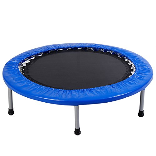 """Giantex 38"""" Mini Band Trampoline Safe Elastic Exercise Workout w/ Padding & Springs Review"""