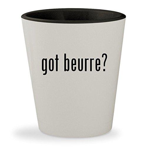 got beurre? - White Outer & Black Inner Ceramic 1.5oz Shot G