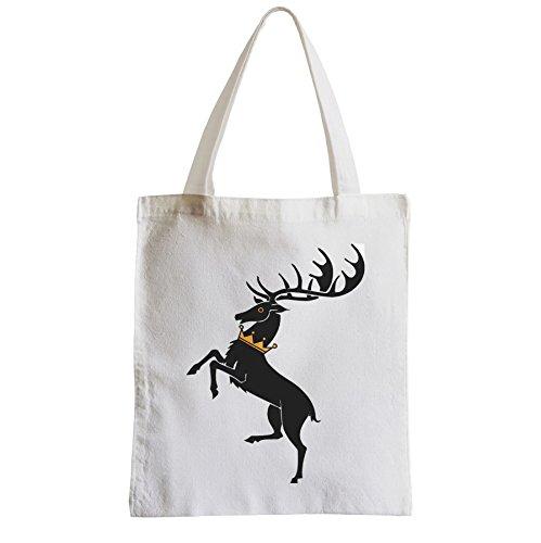 Große Tasche Sack Einkaufsbummel Strand Schüler Game Of Thrones Bratheon Stag Gold Crown