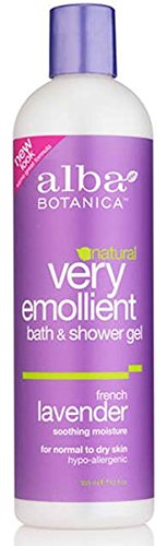 Alba Hypoallergenic Body Wash (Alba Botanica - Very Emollient Bath and Shower Gel, French Lavender - 12 oz)