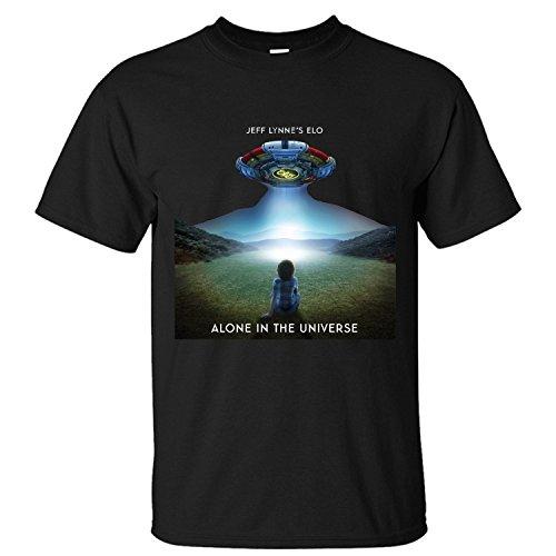 MVYE Men's Jeff Lynne's ELO Alone In The Universe T Shirt Cotton