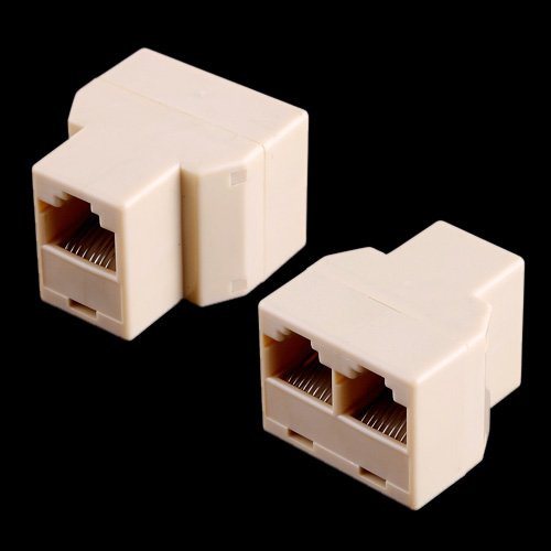 Kingzer 2PCS RJ45 Splitter Plug 3 Way Network Cable Extender Coupler Connector Adapter from KINGZER