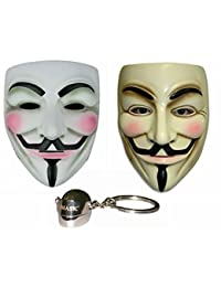 V for Vendetta Guy Fawkes Anonymous Mask 2 Pieces+Gmask Keychain