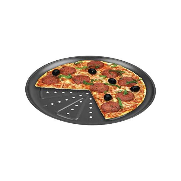 CHG 9776-46 Teglia per Pizza, 2 Pezzi, Diametro Ca. 28 Cm, in Nuova qualità Professionale, Resistente al Calore Fino A…