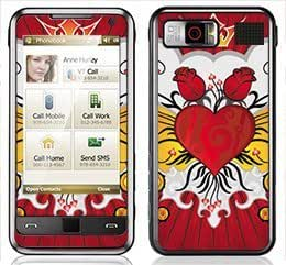 Flaming Heart Skin for Samsung Omnia i900 and i910 Phone by lolosakes