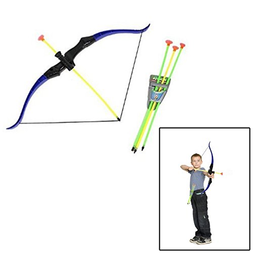 Bow and Arrow Play set - Youth Shooting Archery Kit - Outdoor Hunting Brave (Target Kids Costume)