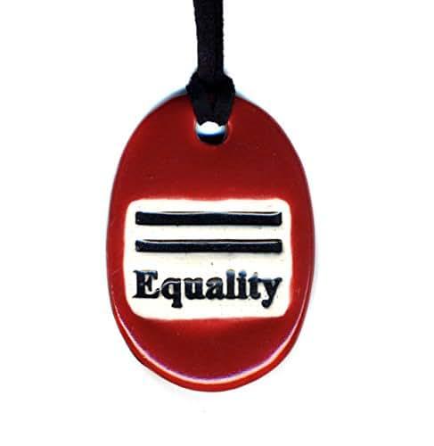Amazon Com Surly Ramics Equality Ceramic Pendant Necklace