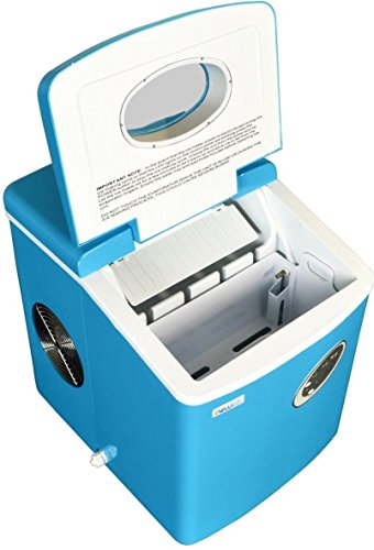 Blue Countertop Mini Compact Portable Ice Cube Maker