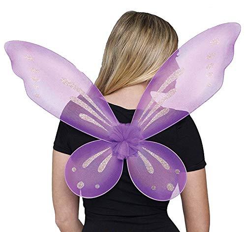 Fun World Women's Fairy Adult Wings Costume Accessory, purple purple, Standard (Purple Wings Small)