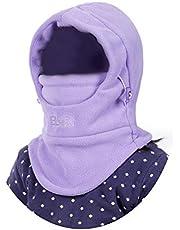 VSREI Unisex kinder wintermuts jongens meisjes capuchon sjaal, 5 in 1 hoed met warme sjaal skioutdoor sport wintermuts pet 4-15 jaar