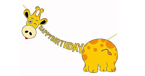Amazon.com: E&L - Kit de decoración temática de jirafa para ...
