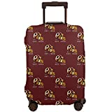 MamaTina Custom Colorful Travel Suitcase Protector Washington Redskins Football Team Travel Luggage Cover Protective Washable Elastic Suitcase Cover Fits 18-32 Inch