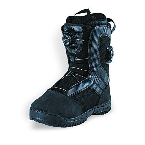 Hmk Snowmobile Boots (HMK Men's Summit Dual Boa Boot (Black, Size 10))
