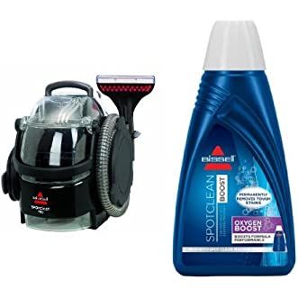 Bissell 3624 SpotClean Professional Portable Carpet Cleaner - Corded and BISSELL OXYgen BOOST Portable Machine Formula, 32 ounces, 0801 Bundle