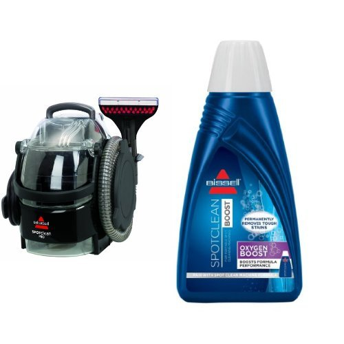 Bissell 3624 SpotClean Professional Portable Carpet Cleaner - Corded and BISSELL OXYgen BOOST Portable Machine Formula, 32 ounces, 0801 Bundle by Bissell