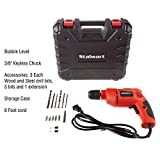 Stalwart Electric Power Drill with 6-Foot Cord