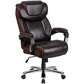 Amazoncom Essentials Big And Tall Leather Executive Chair High - Heavy duty office chairs