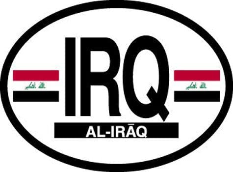 Flag It Iraq Oval Decal for auto Truck or Boat