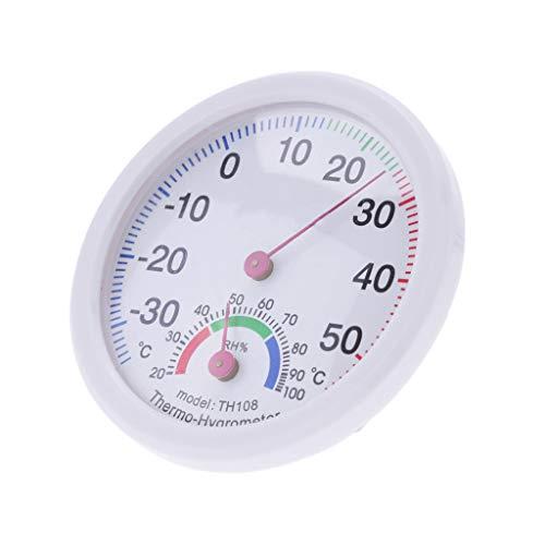 Zuhause Thermometer Hygrometer Haushalt Uhrförmig Innen Draussen Feuchtigkeit
