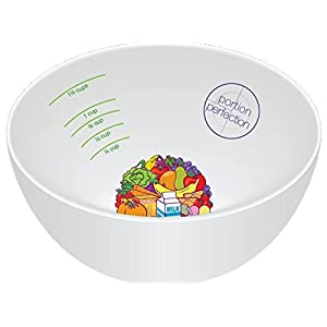 PORTION CONTROL BOWL, MELAMINE for Weight Loss, Bariatric Surgery, Diabetes and Healthier Diets. Educational, visual tool for adults and children by Dietitian Amanda Clark 41gLxjoH7mL