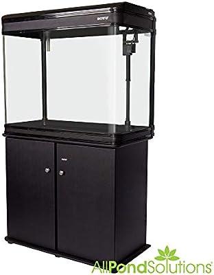 LZ 810 BLACK Modern Cabinet Aquarium Fish Tank Marine / Tropical /  Freshwater   (84cm 2.9ft)  198L With T8 Lighting