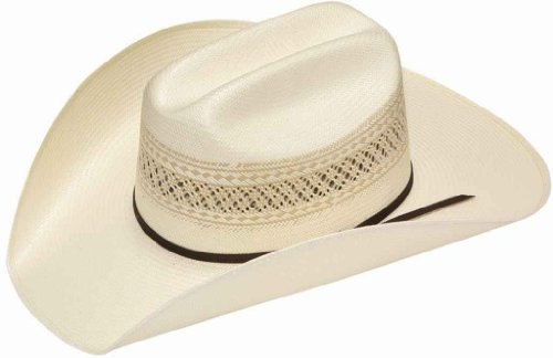 (Twister Men's 10X Shantung Double S Straw Cowboy Hat Ivory 6 3/4)