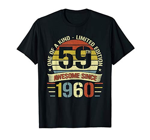 Retro Vintage Awesome 1960 59th Birthday Gifts 59 Years Old ()
