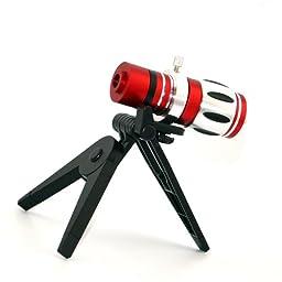 Apexel 12.5X Optical Zoom Super Degree Aluminum Telescope/ Telephoto Lens Kit with Tripod/ Back Case for iPhone 6 Plus