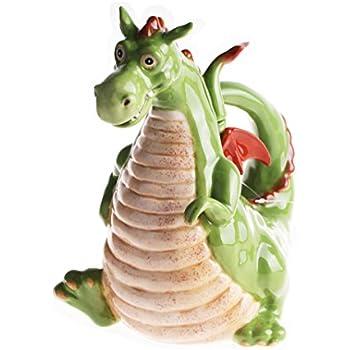 Blue Sky Ceramic, Green Dragon Teapot
