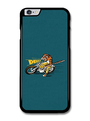 Deus Motorbike Cool Cute Tiger Motocross Illustration on Blue case for iPhone 6 Plus 6S Plus