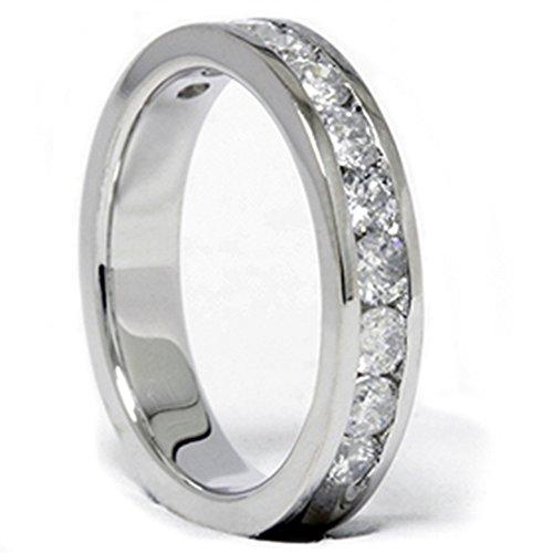 1.00CT Diamond Wedding Ring 14K White Gold New Band