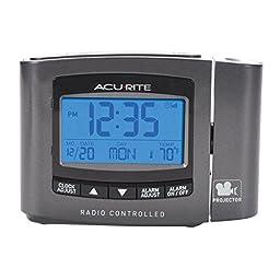 AcuRite 13239 Atomic Projection Clock with Indoor Temperature