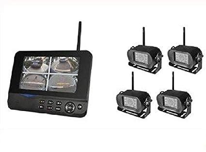 Agente007 - Sistema De Vigilancia Profesional Para Camiones Autobus 4 Camaras Inalambricas Con Vision Nocturna +
