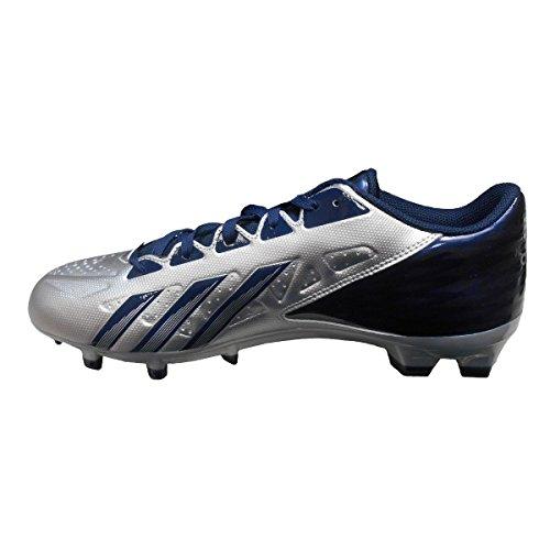 Adidas Man Smutsiga Snabb Låg Fotboll Cleat, Platina | Marin, Storlek 10