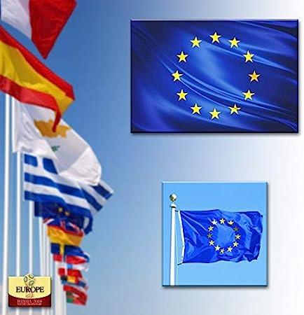 BANDERA DE EUROPA 150X90 CM BANDERA EUROPEA EU ADAPTADA PARA MASTIL POLIESTER: Amazon.es: Deportes y aire libre