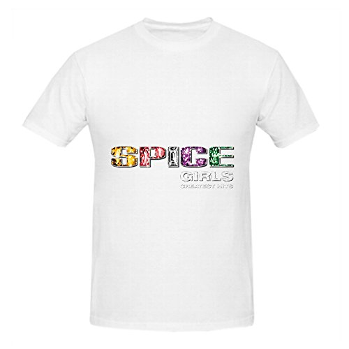 spice-girls-greatest-hits-rock-album-cover-men-crew-neck-printed-tee-shirts-white