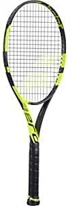"Babolat Pure Aero Yellow/Black Tennis Racquet (4 1/2"" Grip) strung with Black Tennis String"