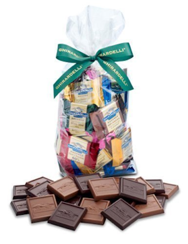 Ghirardelli Chocolate Squares Holiday Gift Bag - 80 Count (Caramel Lovers) (Carmel Ghirardelli Squares)