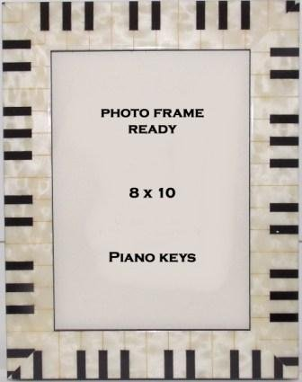 Music Piano Keyboard Photo Frame 8x10 Table Top Photo Frame
