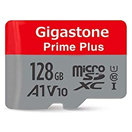 Gigastone MicroSD Card UHS-I U1 Class 10 SDXC Memory Card with SD Adapter High Speed Full HD Video Nintendo Dashcam GoPro Camera Samsung Canon Nikon DJI Drone 14 【High Speed】Up to 90MB/s read speed. V10 Video High speed for Full HD 1080p recording and playback. 【Excellent Compatibility】Massive compliance tested and operated on action camera, dash cam, drone, DSLR, camcorder, game system, DSLR, including GoPro, DJI, Nintendo, Samsung, Sony, Nikon, Canon, Panasonic, and more. 【Perfect for Apps】With A1-rated performance, run apps faster.