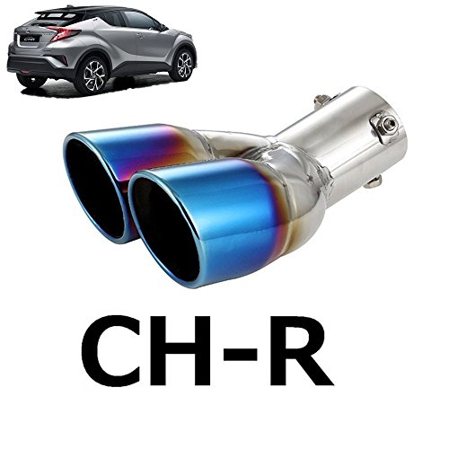 (Oceson Stainless Steel Muffler Exhaust End Tip Pipes for Toyota C-HR CHR 2017 2018 2019)