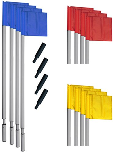 "Champion Sports World Cup Soccer Corner Flag Set, 72"", Red/Yellow/Blue"