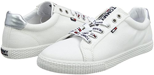 Blanc Tommy Sneakers Casual white Femme Jeans Basses 100 Sneaker 7qqYwrfxz