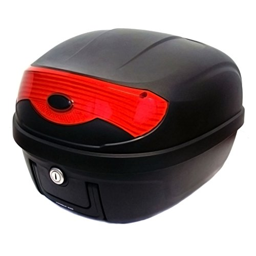 Motorcycle Scooter Top Box Tail Trunk Luggage Box – 15 x 15 x 11.5 In - Holds one (1) Helmet HARD...