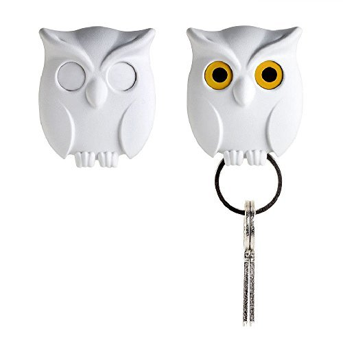 Cute Halloween Bulletin Board Ideas (Night Owl Keyring Holder by Qualy Design Studio. White Color. Cool Home Decor. Unusual Wall Decoration. Unique Gift.)