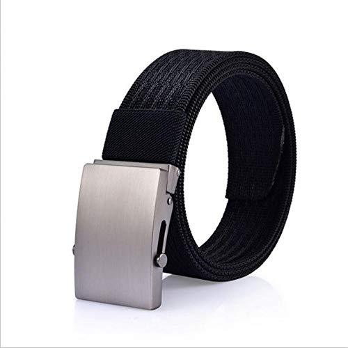 Canvas Belt Men's Canvas Belt Alloy Automatic Buckle Nylon Military Belt Army Tactical Belts Men Male Strap Black (Black)