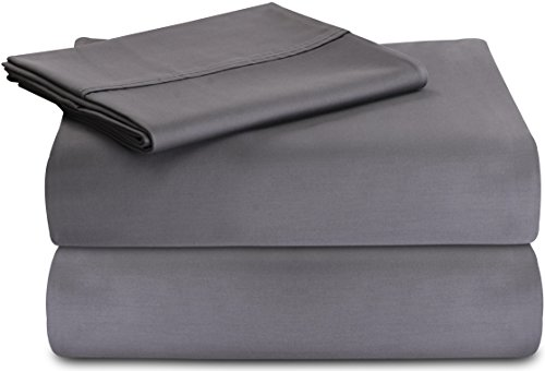 Premium Cotton Sheet Set (Twin, Grey) - 3 Pie...