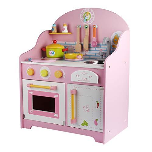 IslandseChildren's Play House Simulation Cooking Family Game, Gas Stove, Sink Pink