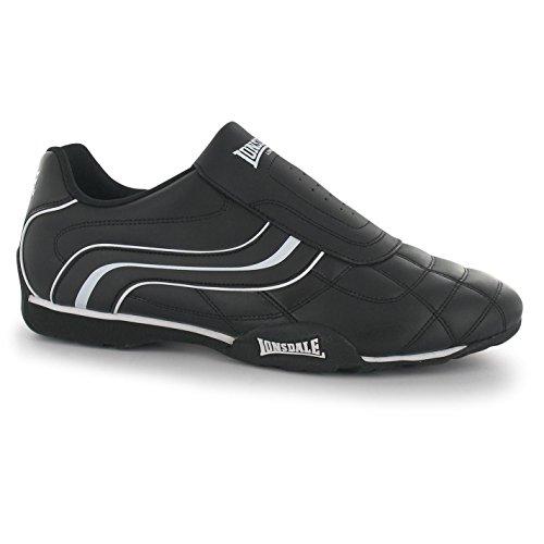 Camden Schwarz Schuhe Turnschuhe Slip Sneakers Trainers Lonsdale Herren Weiß Laufschuhe qYTwpvC