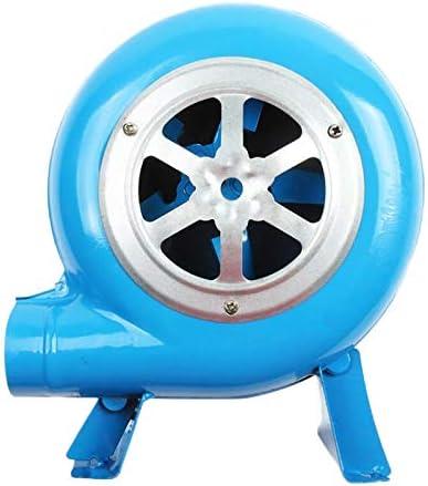 Tiamu Barbacoa Al Aire Libre 80W Hierro Gear Manivela Soplador Ventilador de Mano Manual Soplador de Fuego Ventilador de Palomitas de MaíZ Azul